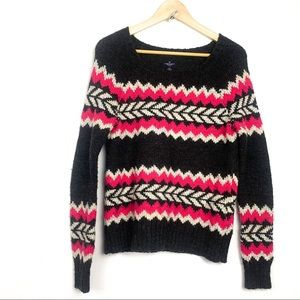 American Eagle pull over wool blend sweater size S